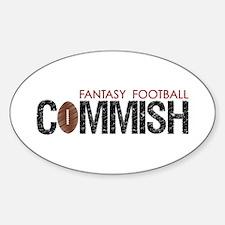 Fantasy Football Commish Sticker (Oval)