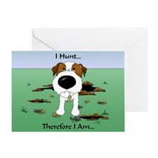 Jack Russell Terrier - I Hunt. Greeting Card