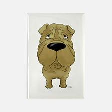 Big Nose Shar-Pei Rectangle Magnet (100 pack)