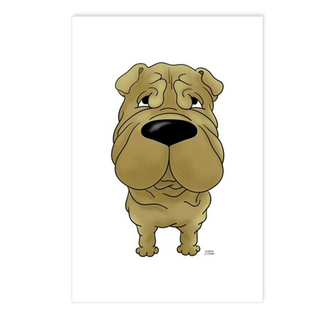 Big Nose Shar-Pei Postcards (Package of 8)