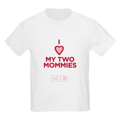 Kids T-Shirt - I Heart My Two Mommies