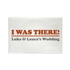 Luke&Laura Wedding Rectangle Magnet