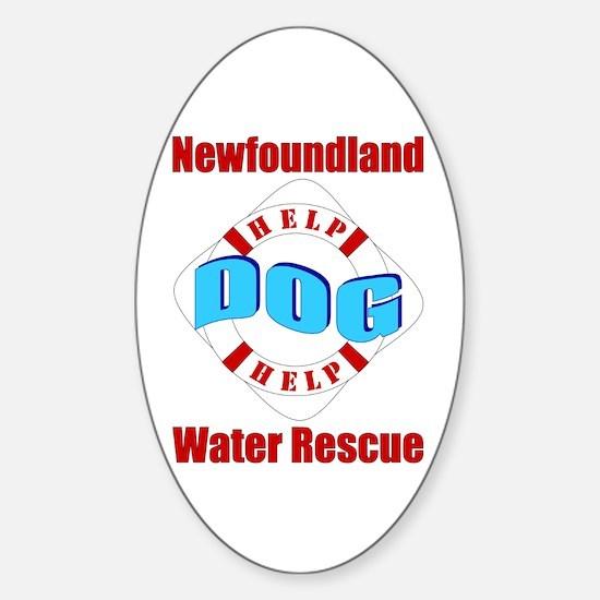 Newfoundland Water Rescue Sticker (Oval)