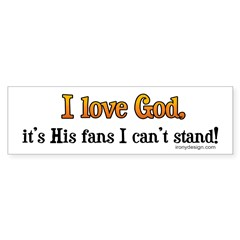 I love God Bumper Bumper Sticker