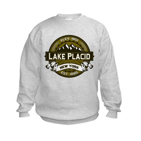 Lake Placid Olive Logo Kids Sweatshirt