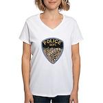 Oblong Illinois Police Women's V-Neck T-Shirt