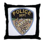 Oblong Illinois Police Throw Pillow