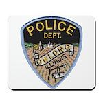 Oblong Illinois Police Mousepad