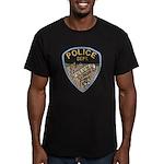 Oblong Illinois Police Men's Fitted T-Shirt (dark)