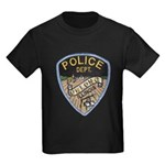 Oblong Illinois Police Kids Dark T-Shirt