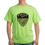 Oblong Illinois Police Green T-Shirt
