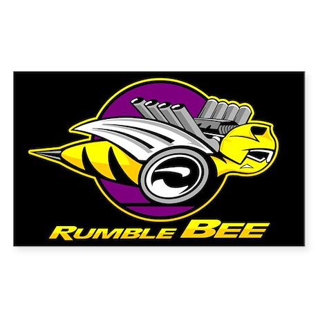 Rumble Bee Sticker (Rectangle)