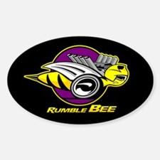 Rumble Bee Sticker (Oval)