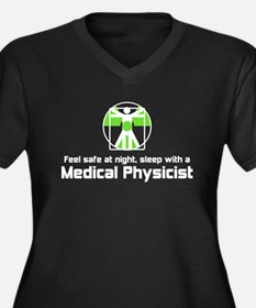Medical Physicist Women's Plus Size V-Neck Dark T-