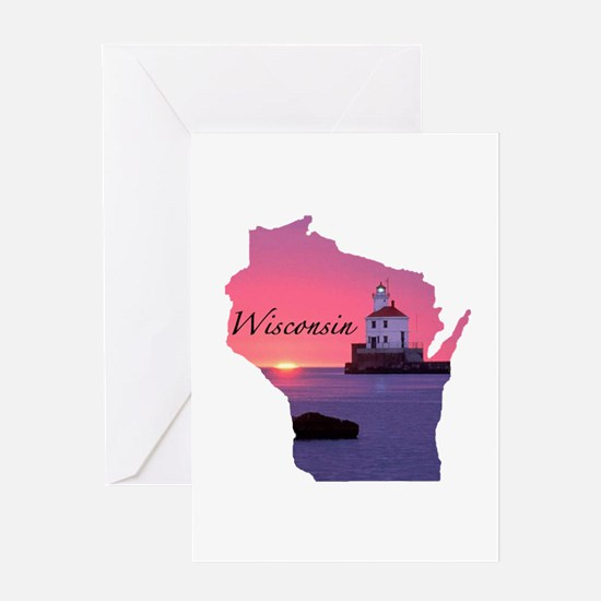 Wisconsin lighthouse Greeting Card
