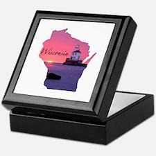 Wisconsin lighthouse Keepsake Box