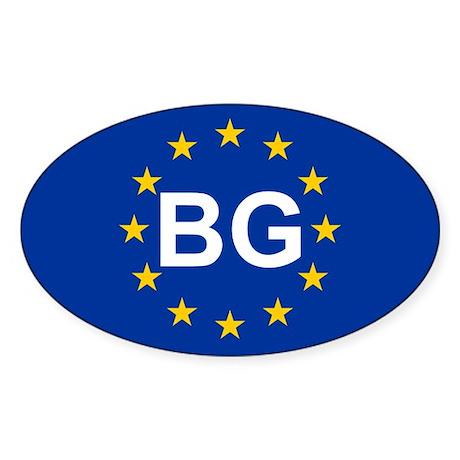 EU Bulgaria Sticker (Oval)