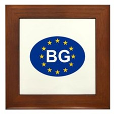 EU Bulgaria Framed Tile