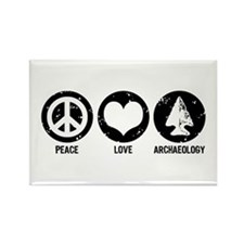 Peace Love Archaeology Rectangle Magnet