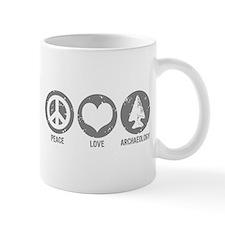 Peace Love Archaeology Mug