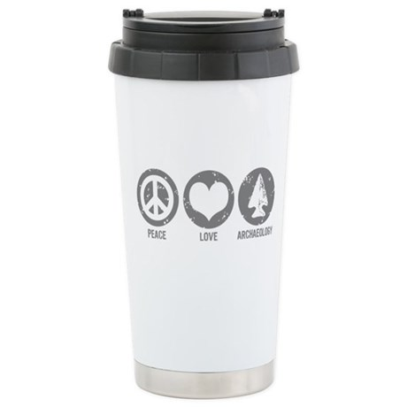 Peace Love Archaeology Stainless Steel Travel Mug