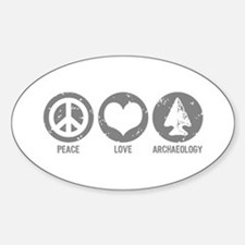 Peace Love Archaeology Decal