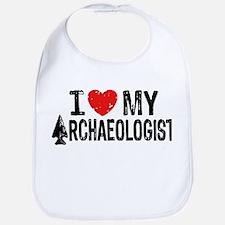 I Love My Archaeologist Bib