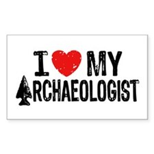 I Love My Archaeologist Decal