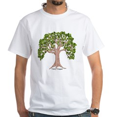 White T-Shirt with Hug back