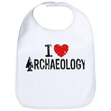 I Love Archaeology Bib