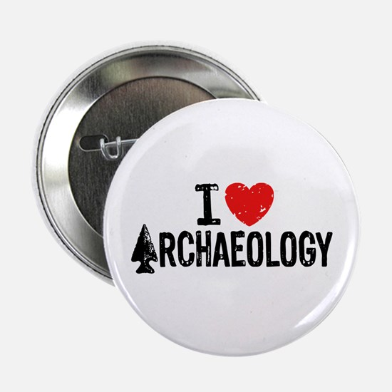 "I Love Archaeology 2.25"" Button"