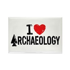 I Love Archaeology Rectangle Magnet