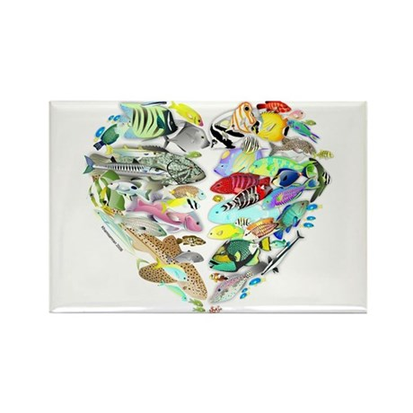 Heart of the Reef Rectangle Magnet (10 pack)