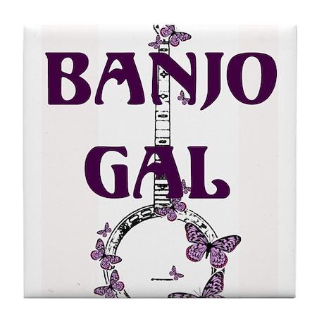 Butterfly Banjo Tile Coaster