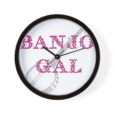Banjo Gal Wall Clock