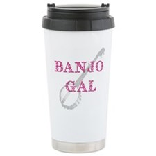 Banjo Gal Travel Coffee Mug