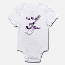 Grin and Mandolin Infant Bodysuit