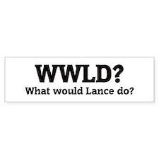 What would Lance do? Bumper Car Sticker