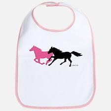 Horses (B&P) Cotton Baby Bib