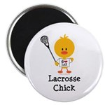 Lacrosse Chick Magnet