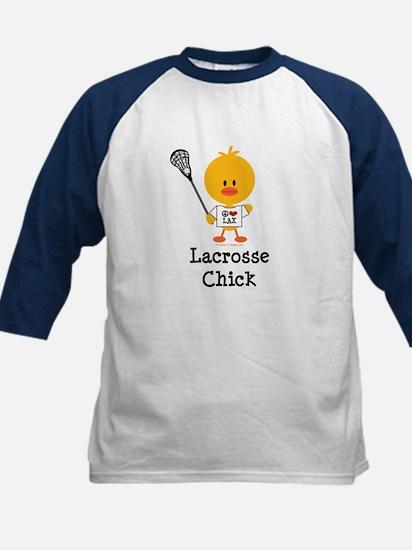 Lacrosse Chick Kids Baseball Jersey