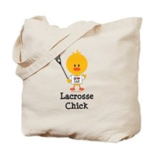 Lacrosse Chick Tote Bag