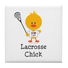 Lacrosse Chick Tile Coaster