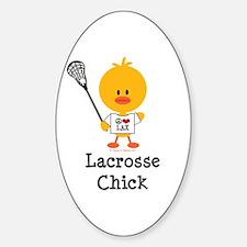 Lacrosse Chick Sticker (Oval)