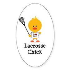 Lacrosse Chick Decal