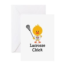 Lacrosse Chick Greeting Card