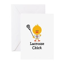 Lacrosse Chick Greeting Cards (Pk of 10)