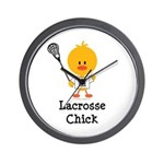 Lacrosse Chick Wall Clock