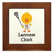Lacrosse Chick Framed Tile