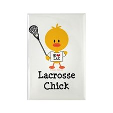 Lacrosse Chick Rectangle Magnet (100 pack)